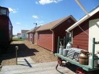 The Bunkhouse and Workshop are behind the Caboose.