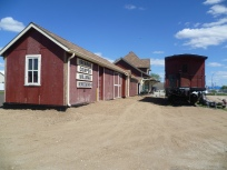 The Workshop and Bunkhouse are now lined up with the museum.